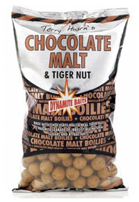 Бойлы Dynamite Baits Chocolate Malt & Tigernut тонущие