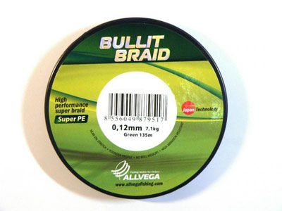 Шнур Bullit Braid 135м тем.-зел. / 0,18